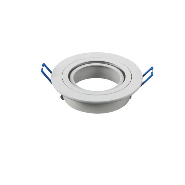 LED spot lámpa beépítő keret kerek M1030R-01 fehér GU10 és MR16-os LED izzókhoz