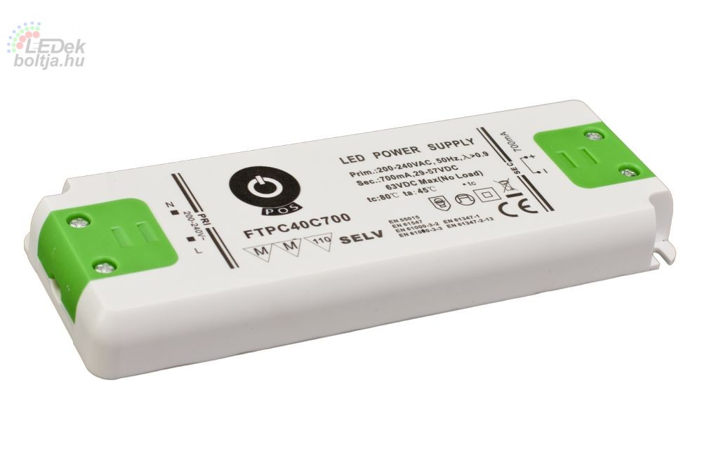 Led tápegység FTPC-40-C700 39.9W 29-57VDC 700mA