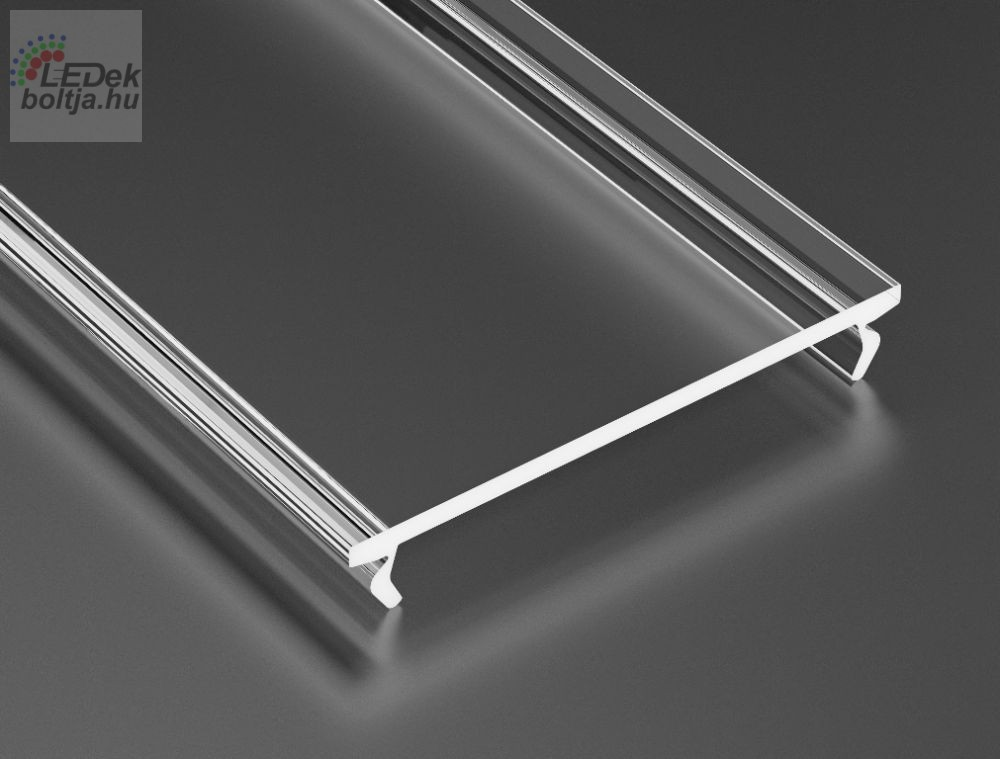 Átlátszó takaróprofil Széles Led profilokhoz 2 méteres
