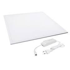 LED panel 600x600 40W hideg fehér fehér keret dugvillával