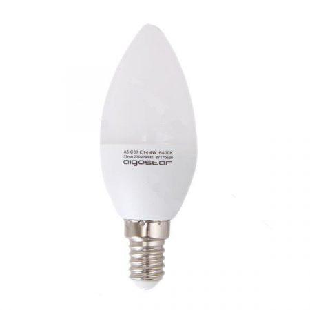 AIGOSTAR LED izzó C37 E14 5W, 270°, meleg fehér
