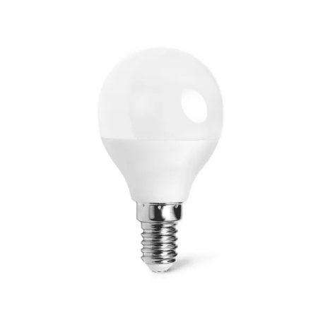 LED izzó G45 E14 5W 280° meleg fehér