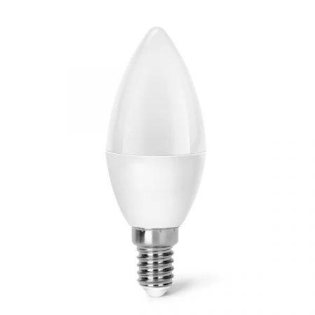 AIGOSTAR LED izzó C37 E14 6W, 270°, meleg fehér