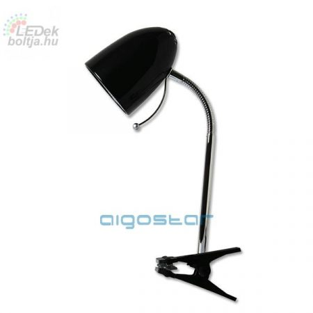 Asztali lámpa fekete csiptetős E27