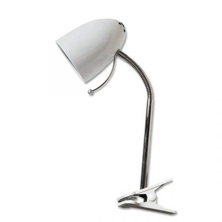 Asztali lámpa fehér csiptetős E27