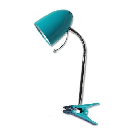 Asztali lámpa kék csiptetős E27