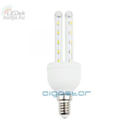 Kukorica LED izzó T3 2U E14 6W meleg fehér