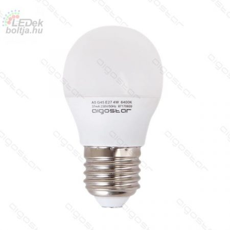 LED izzó G45 E27 6W Természetes fehér Aigostar