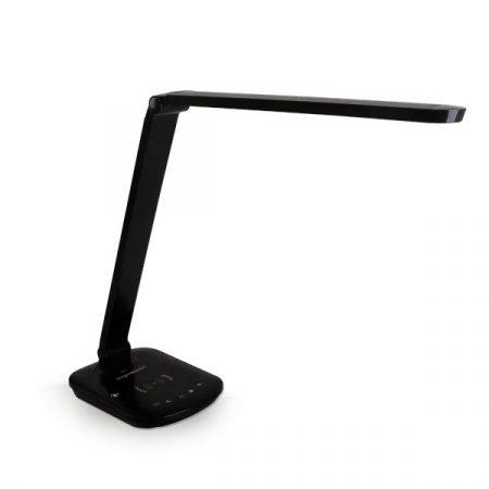 LEDES asztali lámpa vezeték nélküli töltővel fekete 8W