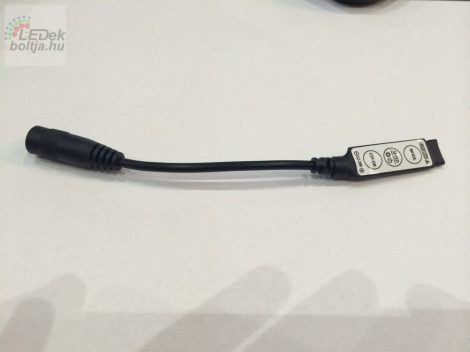 Mini RGB LED vezérlő - nyomógombos - (12V/24V) 144/288W BL