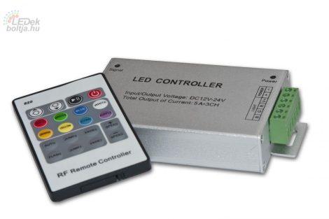 RGB vezérlő,Rádiós távkapcsolóval 144W