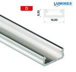 Led profil led szalagokhoz általános U alakú natúr 2 méteres alumínium