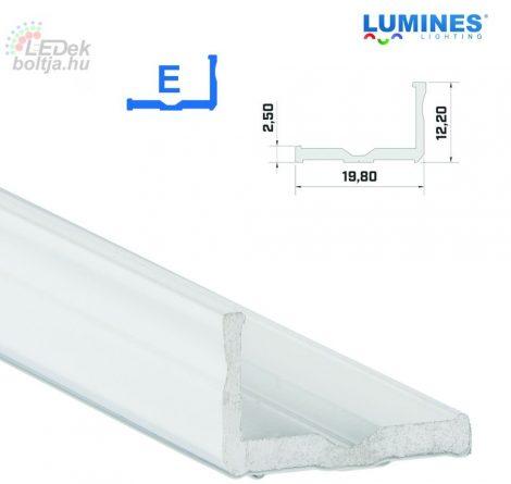 Led profil led szalagokhoz Szélesebb L alakú fehér 1 méteres