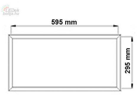 LED panel kiemelő keret fehér 300x600mm