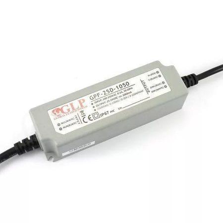 GLP Led tápegység GPF-D25-C1050 dimmelhető 25.2W 15-24V 1050mA