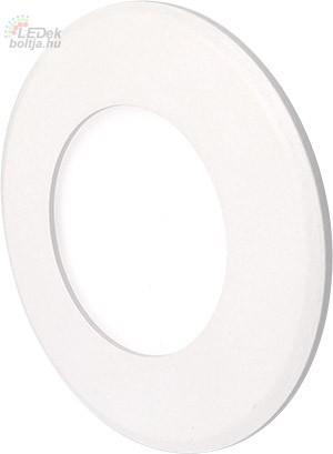 GREENLUX Mini Led Panel VEGA kör lámpa Fehér keret 3W Meleg fehér