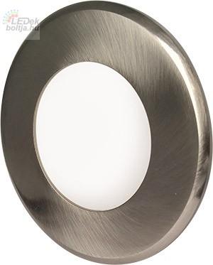 Greenlux Mini Led Panel VEGA kör lámpa Ezüst keret 3W Természetes fehér