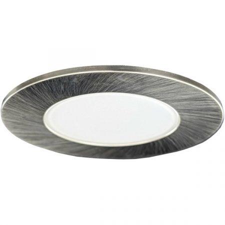 LED beépíthető lámpa kör Ezüst keret 5W Természetes fehér Kültéri