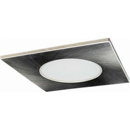 LED beépíthető lámpa négyszögletes Ezüst keret 5W Természetes fehér Kültéri