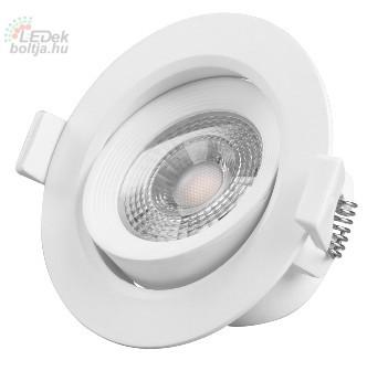 Led beépíthető lámpa Greenlux  JIMMY-R 7W természetes fehér állítható kerek kerettel