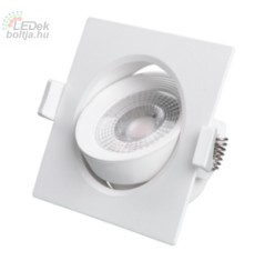 Led beépíthető lámpa Greenlux  JIMMY-S 7W természetes fehér állítható szögletes kerettel