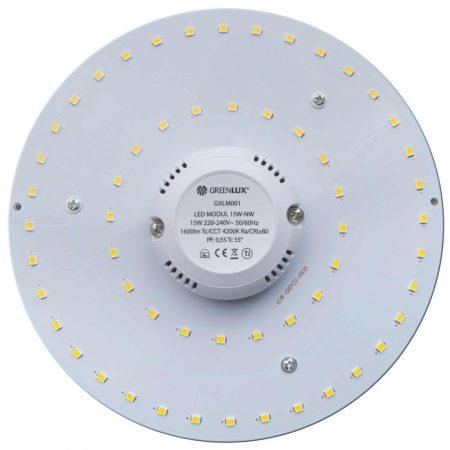 Led PCB modul Mágneses 15W Természetes Fehér