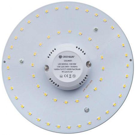 Led PCB modul Mágneses 15W Meleg Fehér