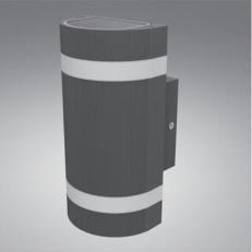 LEDES kültéri lámpatest 2x6W íves függeszthető