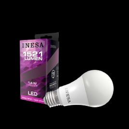 LED Izzó E27 14W Gömb Hideg fehér