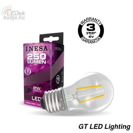 INESA E27 2W Filament LED izzó 2700K G3 250Lm