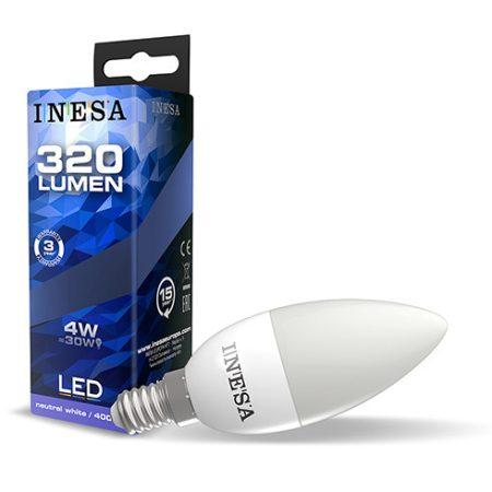 LED izzó E14 4W 160° LED gyertya izzó 6500K G3 320Lm