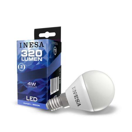 LED izzó E14 4W 160° LED gömb izzó 6500K G3 320Lm