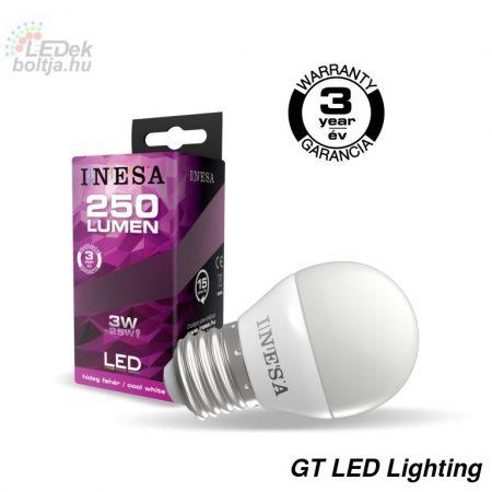 LED izzó E27 3W 160° LED izzó 6500K G3 250Lm