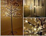 Cseresznyevirág fa LED világítással 180 cm kültéri meleg fehér