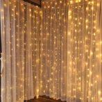 Karácsonyi függöny világítás 2*2 m meleg fehér