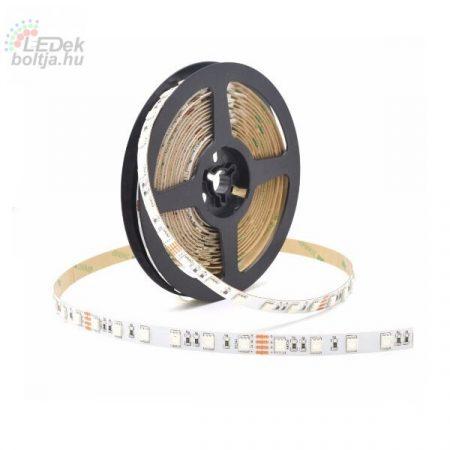 LED DEKOR SZALAG 5050 RGB SMD 60LED/M 14,4W/M 12V
