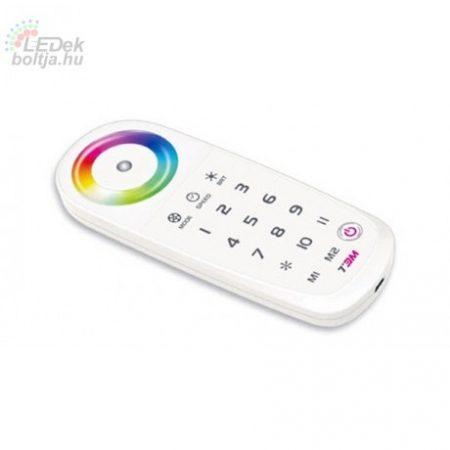 RGB és Fényerő szabályzócsoportvezérlő távirányító 2,4Ghz Memória funkcióval