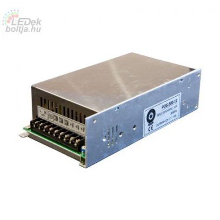 POS Led tápegység POS-500-12 480W 12V 40A fémházas