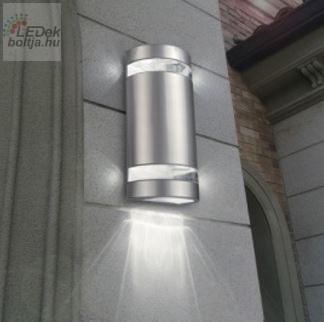 Napelemes LED fali lámpa henger alakú