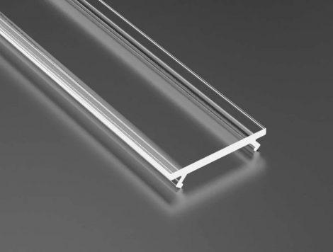 Átlátszó PVC takaróprofil 1 méteres profilhoz