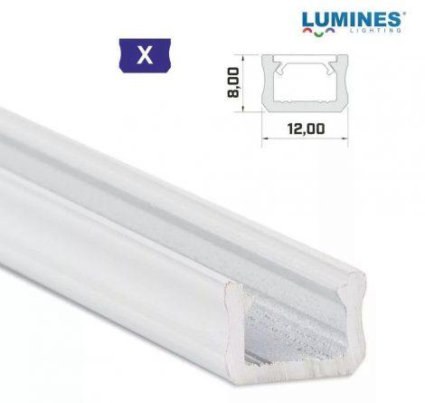Led profil led szalagokhoz Keskeny fehér 2 méteres alumínium