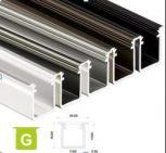 Led profil Beépíthető Mély alumínum